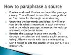 how to paraphrase a source