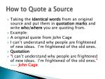 how to quote a source
