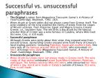 successful vs unsuccessful paraphrases