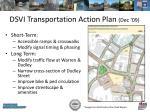 dsvi transportation action plan dec 09