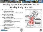 dudley square transportation and air quality study nov 01
