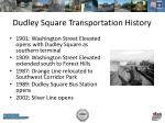 dudley square transportation history