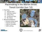 placemaking in the warren street transit corridor jun 12