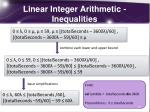 linear integer arithmetic inequalities1