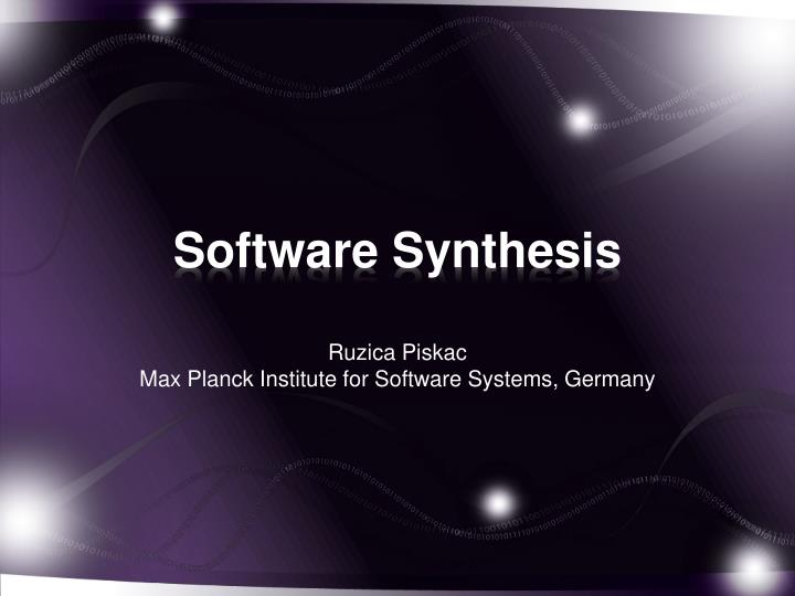 software synthesis n.