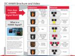 dc hawk brochure and video