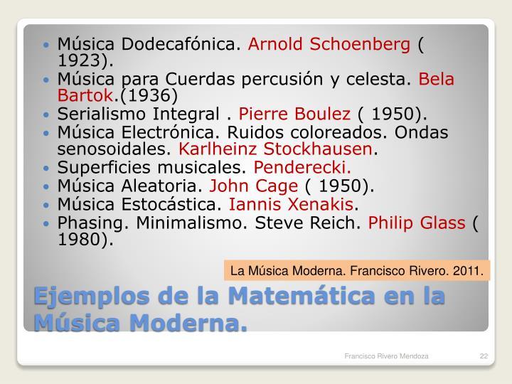 Música Dodecafónica.