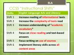 ccss instructional shifts