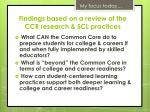 f indings based on a review of the ccr research scl practices