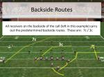 backside routes
