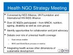health ngo strategy meeting