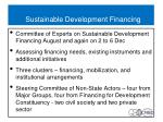 sustainable development financing
