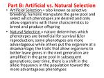 part b artificial vs natural selection