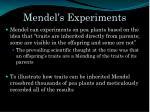mendel s experiments