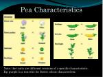 pea characteristics1