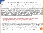 benefits of progressive workflow fp