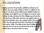 its location
