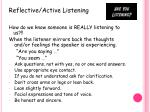 reflective active listening