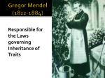 gregor mendel 1822 1884