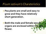 pisum sativum s charateristics1