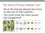 the work of gregor mendel cont8