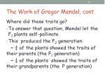 the work of gregor mendel cont9