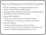 why a loi response to a call for proposals