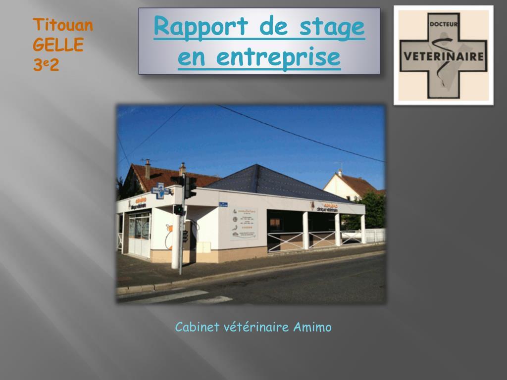 Ppt Rapport De Stage En Entreprise Powerpoint Presentation Id