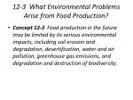 12 3 what environmental problems arise from food production