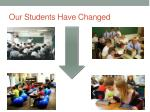our students have changed