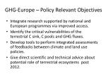 ghg europe policy relevant objectives