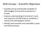 ghg europe scientific objectives