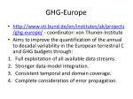 ghg europe