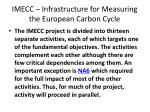 imecc infrastructure for measuring the european carbon cycle1