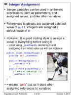 integer assignment