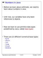numbers in java