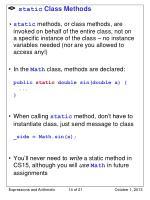 static class methods