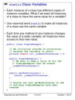 static class variables