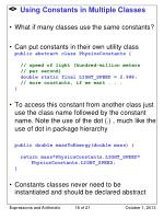 using constants in multiple classes