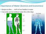importance of water science and economics