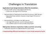 challenges in translation