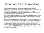 key actions from the workshop