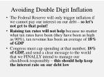 avoiding double digit inflation