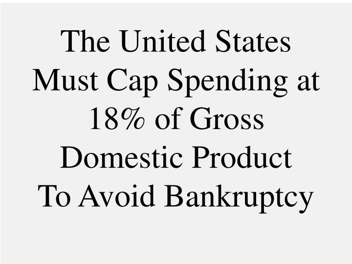 the united states must cap spending at 18 of gross domestic product to avoid bankruptcy n.