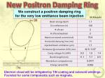 new positron damping ring