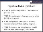 populism index questions
