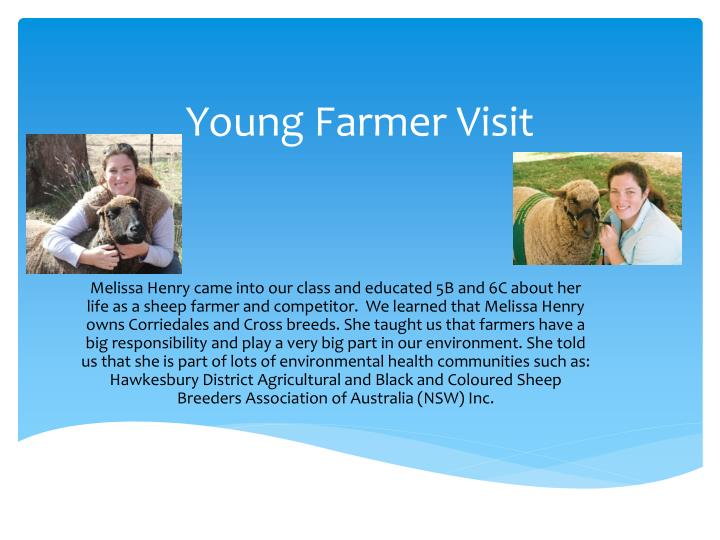 young farmer visit n.