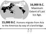 16 000 b c maximum extent of last ice age