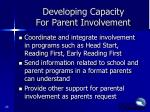 developing capacity for parent involvement3