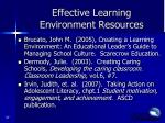 effective learning environment resources